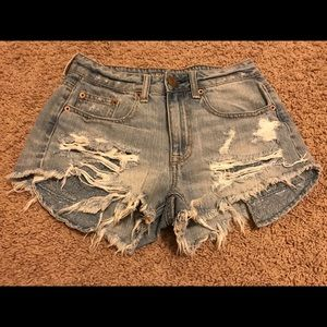 American Eagle High Rise Festival Shorts Size 2